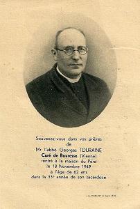 Abbé Georges Touraine, Prêtre à Bouresse de 1945 à 1949, Poitou-Charentes