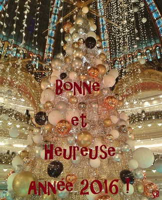 Décorations de Noël Galeries Lafayette Paris - Noël 2015, Bonne et heureuse année 2016, SandrinePhotos