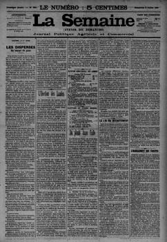 La Semaine - Avenir du dimanche-Presse locale-Vienne-Poitiers