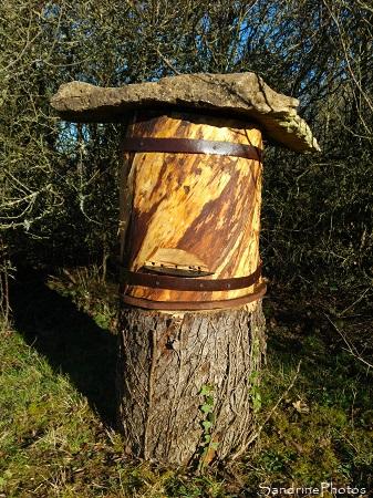 Ruche-tronc, abeilles, Apiculture, Le Verger, Refuge LPO Bouresse, Sud-Vienne