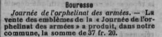 Vente des emblèmes juillet 1915 Grande Guerre - Bouresse commune du Poitou - La Semain, presse régionale (2)